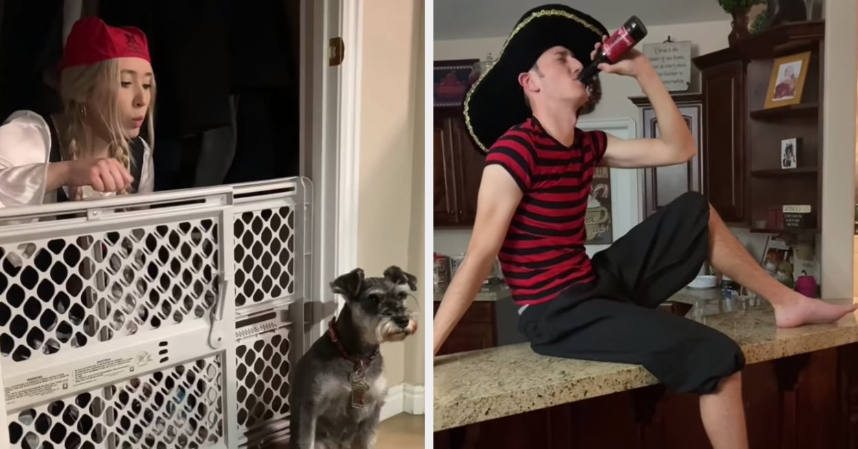 """This Family Recreated The """"Pirates Of The Caribbean"""" Ride In Their Home While Self Isolating"""